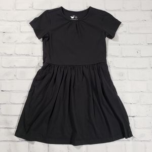 Primary Black Dress with Pockets 100% Cotton
